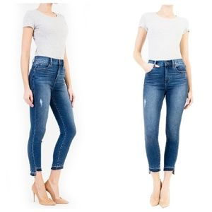 Level 99 Elle High Rise Uneven Hem Jeans